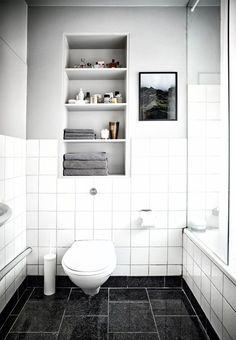 Klassisk og cool badeværelse