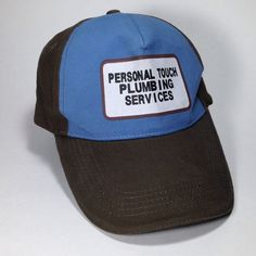 Personal Touch Plumbing Services Funny Baseball Hat Cap for Dirty Rude Plumber Halloween Costume #hipster