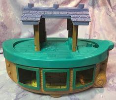 Little People Noah's Ark Boat Plastic Wood Toy Fisher Price #FisherPrice