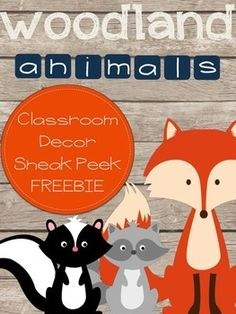 This is a freebie sample of my Woodland Animals Complete Classroom Decor Set. It was designed to have a rustic look to it. Animals include: Fox, Raccoon, Skunk (with small appearances from deer, owls, and squirrels). Here is a list of all that is included in the FULL VERSION: Welcome Banner p. 4-10 Welcome Posters p. 11-17Communication Postcards p. 18-21Calendar Pieces p. 22-44Alphabet p. 45-70Number Cards p. 71-81Classroom Jobs p. 82-89Hall Passes p. 91-93Table Group Labels p…