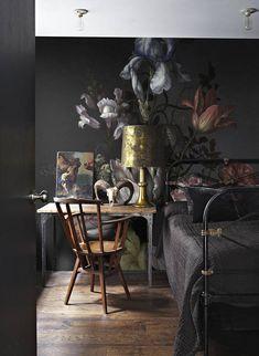 Dutch dark Vintage florale Wallpaper, Wand-Wandmalereien, Peel and Stick, floral Wallpaper, selbstklebend, temporäre Wandbilder #14