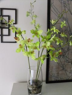 28 Silk Natural Touch Green Dendrobium by FineOrchidCreations
