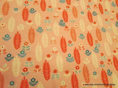 Flannel Fabric  Aztec Floral   1 yard  100% Cotton by SnappyBaby
