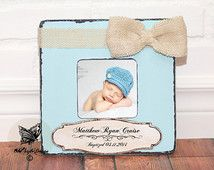Baptism Gift Boy Christening Gift Baptism gift from Godparent Personalized picture Frame Godchild Frame  Baby Shower First Birthday Gift