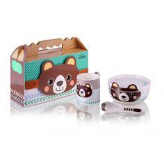 Zestaw porcelanowy dla dzieci z misiem - 4 elementy #goodform #naczynia #dladzieci