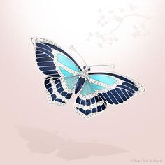 Mazarine Butterfly clip, High Jewelry collection Papillons, Van Cleef & Arpels