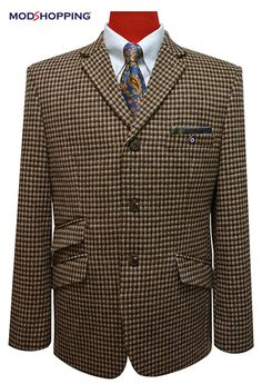 Mod shopping - BROWN HOUNDSTOOTH 60'S JACKET, £139.00 (http://www.modshopping.com/brown-houndstooth-60s-jacket/)