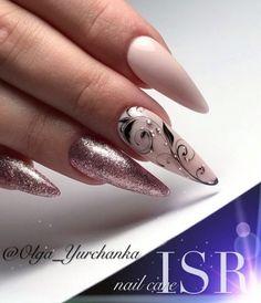 and Beautiful Nail Art Designs Stiletto Nail Art, Gel Nail Art, Gel Nails, Acrylic Nails, Elegant Nail Designs, Nail Art Designs, Nails Design, Beautiful Nail Art, Gorgeous Nails