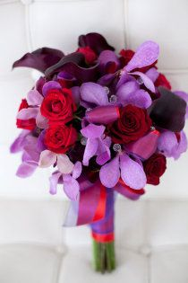 Wedding Bouquet- Purple and Red