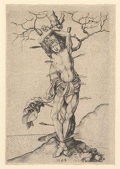 Saint Sebastian, Martin Schongauer, ca. 1435/50–1491