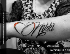 df5c87118 Beautiful name with heart tattoo by - JAYESH SONI @a_for_artist_29 Hope you  like it this
