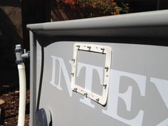 Adding a Hayward Thru-the-Wall Skimmer to Intex Metal Frame Pool (step by step PICS!)