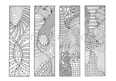 Zentangle Bookmarks to Color