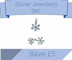 Sterling Silver Snowflake Jewellery Set - Skigifts.co.uk