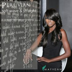 Hey Mayvenn's! You're going to want to try the Peruvian hair with these low prices. #mayvennhair #peruvianhair #peruvianbundles #fashionweek #newhair