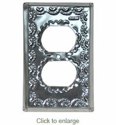 natural punched tin decorative outlet cover - Decorative Outlet Covers