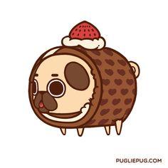 The official Puglie Pug website and store! Cute Animal Drawings, Kawaii Drawings, Cute Drawings, Pug Wallpaper, Iphone Wallpaper, Art Kawaii, Pug Cartoon, Pug Art, Pug Pictures