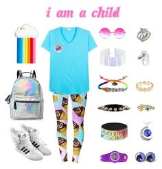 """""""i am a child"""" by p1nkam3na on Polyvore featuring Janis, Venessa Arizaga, Orlebar Brown, Chrome Hearts, Hot Topic, Nach Bijoux, BCBGeneration, Bling Jewelry, Alison Lou and adidas"""
