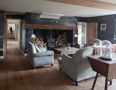 A Gallery of Cozy Cottage Interiors Cottage living rooms Cottage lounge Cottage interiors