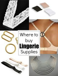 Resource guide for where to buy lingerie making supplies.  The Sewing Loft