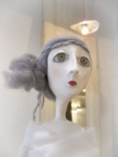 Ooak art doll -   Art doll made from paper clay  -  Ariadne - Woman figure art sculpture   - Sale its was 220 usd Now  190 usd