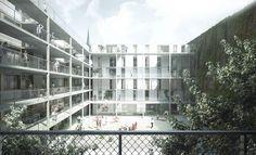 1st Prize: courtyard, © EM2N