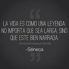 #frases de vida -Séneca #citas #reflexiones