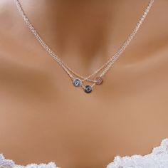 Triple Layered Initial Necklace, Personalized Necklace | Gosia Meyer Jewelry