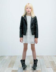 VIRKAD KLÄNNING - Klänningar - Flicka (2-14 år) - Barn - ZARA Sweden