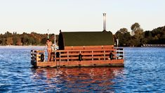 Saunafloss – Die schwimmende Sauna in Berlin