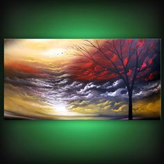 original abstract painting abstract landscape painting by mattsart, $350.00