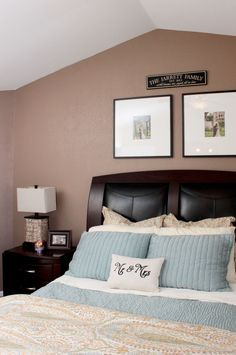 Master Bedroom DIY Before & After is amazing! Pottery Barn Bedding. See Marlowe-lane.com for more.