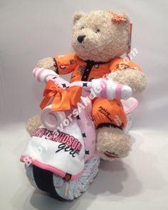 Photo: Harley Davidson Girl Baby Shower Diaper Cakehttp://goo.gl/8nte4g