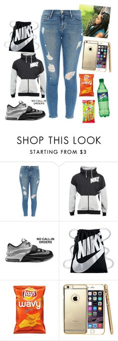 """#380"" by aneysajslexander ❤ liked on Polyvore featuring Frame Denim and NIKE"