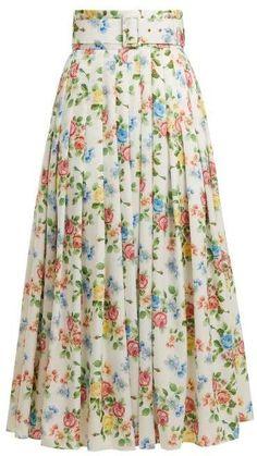 Fashion Tips Skirt Outfits Long Skirt Fashion, Fashion Dresses, Black Skirt Outfits, White Midi Skirt, Muslim Women Fashion, Modest Skirts, Ladies Dress Design, Floral Prints, Emilia Wickstead