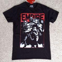 NEW Unisex Men/Women Sm STAR WARS EMPIRE TEE Black/Red Darth Vader Storm Trooper #FifthSun #GraphicTee