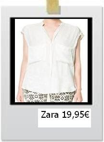 White sleeveless shirt is a basic and for less than 20€