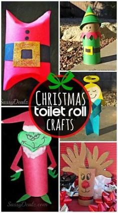 DIY Christmas Toilet Paper Roll Crafts - Great Christmas crafts for kids to make! | CraftyMorning.com by bernadette