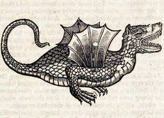 Winged Dragon This woodcut is an illustration from the book The history of four-footed beasts and serpents... by Edward Topsell, printed by E. Cotes for G. Sawbridge, T. Williams and T. Johnson in London in 1658. Special Collections, University of Houston Libraries (Public Domain)