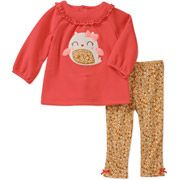Child of Mine by Carters Newborn Girls' 2 Piece Owl Top and Pant Set