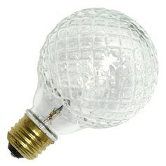40 watt - 120 volt - G25 - Medium Screw (E26) Base - 2,850K - Cut Glass - Crystal - Globe - Decor - Eco | Westinghouse Halogen Incandescent Light Bulb