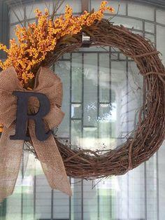 My first homemade wreath!