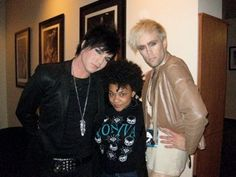 """2009 - Adam at Lady Gaga concert w/friend from """"Hair"""" and Justin Trantor of Semi Precious Weapons (opening act)"""