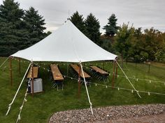 Sailcloth tent with cafe lighting for a rustic open house wedding Cafe Lighting, Sailing Outfit, Open House, Canopy, Outdoor Gear, Tent, Patio, Rustic, Wedding