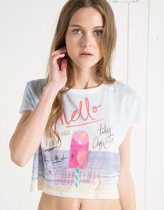 Camiseta BSK print helado - Camisetas - Bershka Colombia