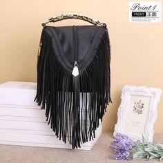 Small Crossbody Vintage Tassel Handbag
