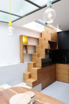 Paris Row House par Eitan Hammer Architecture et Félicie Chardon Architecte - Journal du Design