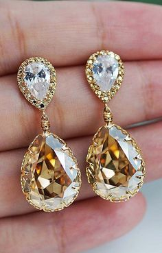 Really great two-tone earrings for formal events!