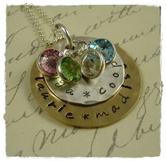 Grandma  Mom Hand Stamped Necklace Stackers by rosecreekcottage, $42.00