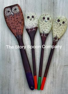 DaddiLifeForce - the magic of story time - DaddiLife Owl Activities, Autumn Activities, Activity Ideas, Preschool Ideas, Baby Owls, Owl Babies, Wooden Spoon Crafts, Wooden Spoons, Painted Spoons